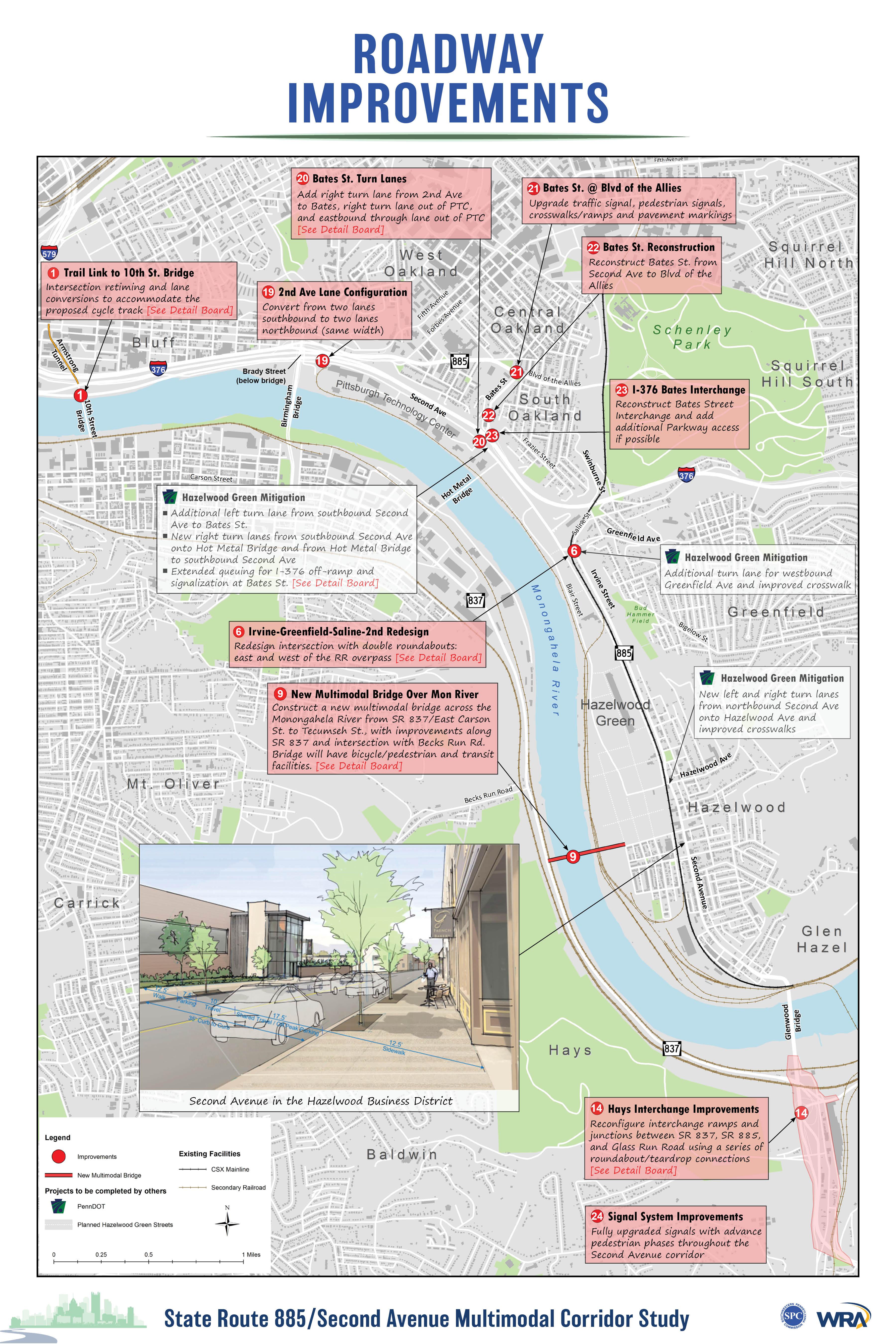 Roadway Improvements Map